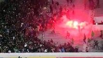 Des affrontements sanglants entre les Ultras d'un même club de Raja Casablanca les Green Boys et Ultras Eagles hier soir au stade
