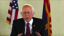 Bernie Sanders on his path to the nomination, contrasts with Clinton