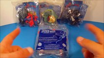 2009 THE SPECTACULAR SPIDER-MAN ANIMATED SERIES SET OF 4 BURGER KING KIDS MEAL TOYS VIDEO REVIEW