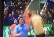 Mitrovic marque, devient fou, et se jette sur un fan monté sur le terrain
