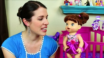 Baby Alive Goes CRAZY & Wont Go To Sleep in the New Nursery Crib Furniture Set DisneyCarT