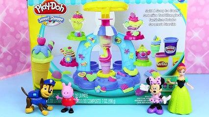 Play Doh Dippin Dots Ice Cream & Ice Cream Cones For MagiClip Frozen Dolls, Peppa & Minni