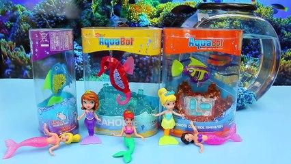 The Little Mermaid Ariel & Sofia The First Mermaids Swim with Aquabot Fish by DisneyCarToy