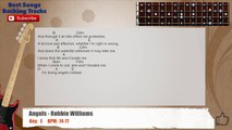Angels - Robbie Williams Bass Backing Track with scale, chords and lyrics