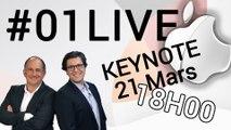 01Live spécial Keynote Apple : toutes les annonces en direct sur 01netTV