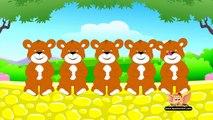 Five Brown Teddies - Nursery Rhyme with Lyrics and Sing Along