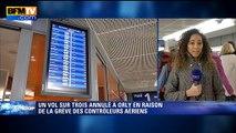 Grève des contrôleurs aériens: un vol sur trois annulé à Orly
