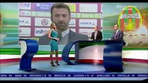 Diletta Leotta 06/02/2016 Sexy in tight green minidress and high heels Cleavage and hot le