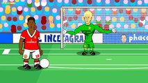 Manchester City vs Manchester United 0-1 2016 (Marcus Rashford goal Cartoon Highlights Demichelis)