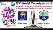 Sri lanka vs west indies icc t20 world cup 2016 live cricket preview match