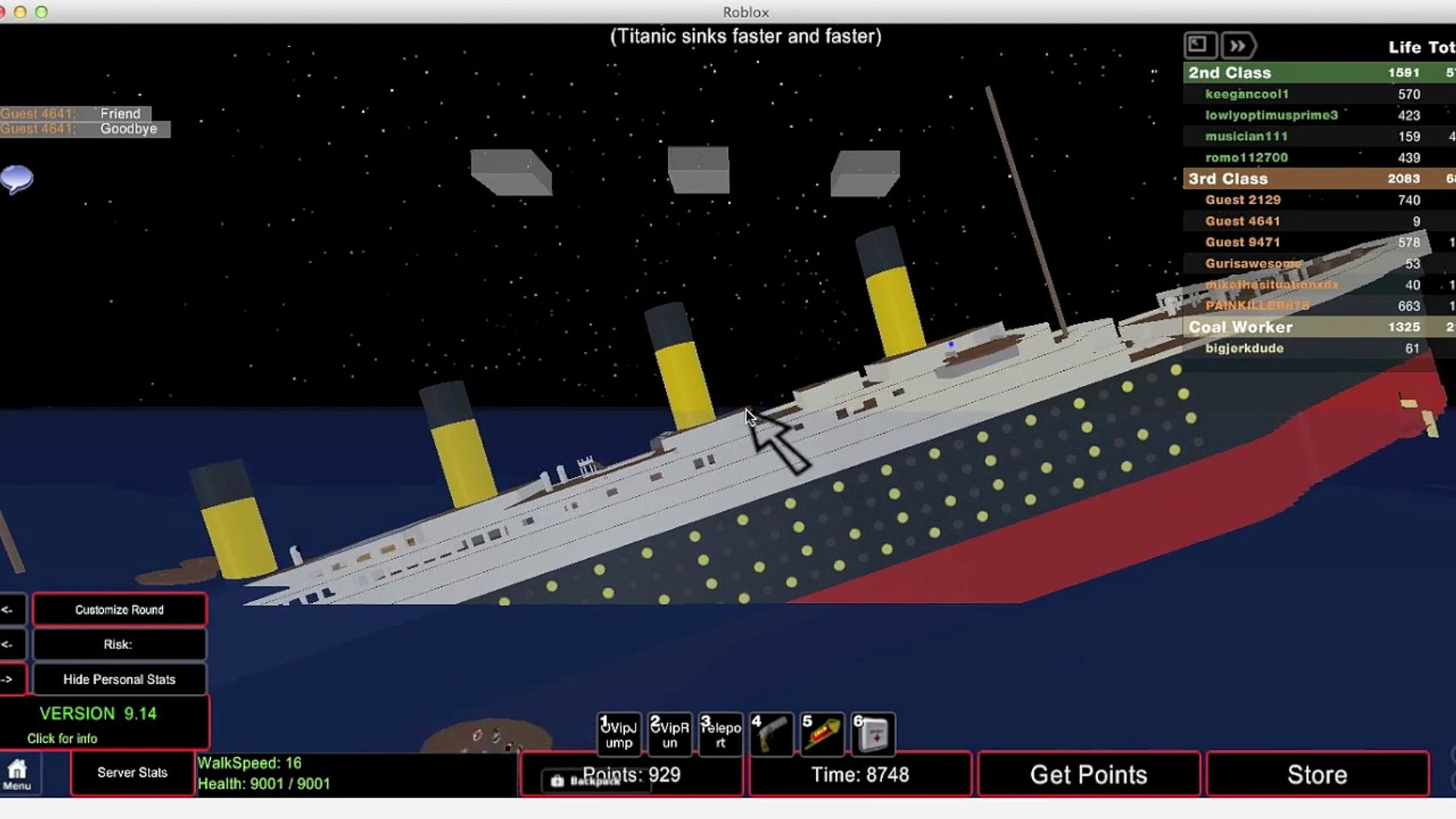 Titanic Sinking Roblox Video Dailymotion