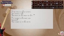 Cruz de Navajas (Version Salsa) Mecano _ Celia Cruz Bass Backing Track with scale, chords and lyrics