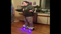 Woman Goes Round And Round On Hoverboard