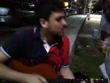 Doga e mano Marto improvisando na Lagoa da Conceição