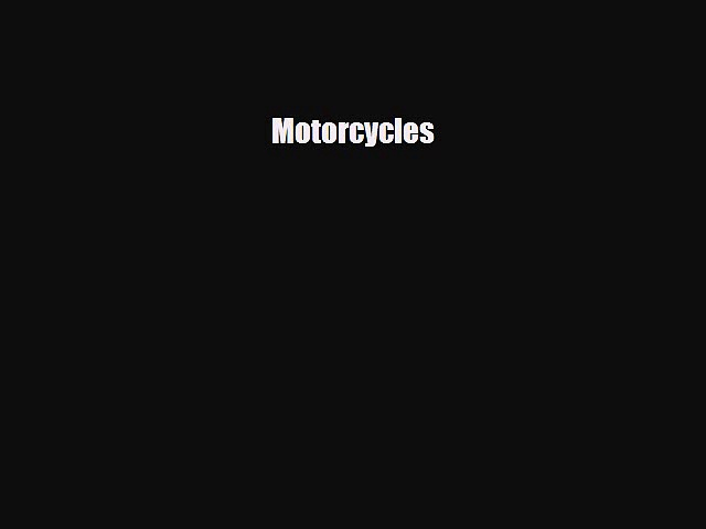 Read ‪Motorcycles Ebook Free