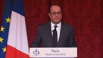 Déclaration de François Hollande à la suite des attentats de Bruxelles