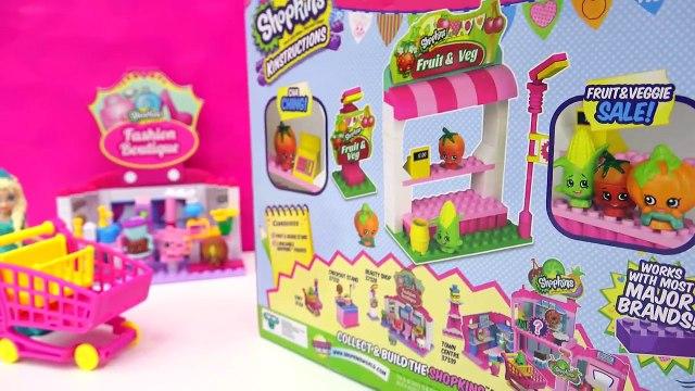 Shopkins Kinstructions Fruit & Veg Playset with Disney Frozen Queen Elsa Video Cookieswirlc
