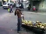 Blindfolded Jamaican jelly manCrazy Jamaican VideosKrazy Jamaican Videos