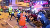Gunshots fired as Hong Kong police clash with crowd