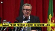 """Bruxelles : """"J'en appelle à la solidarité de tous les Belges pour leur capitale"""", a déclaré le bourgmestre de la ville."""