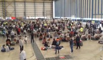 Chaotic scene inside Brussels airport after attack
