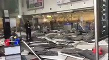 Brussels Airport two explosions