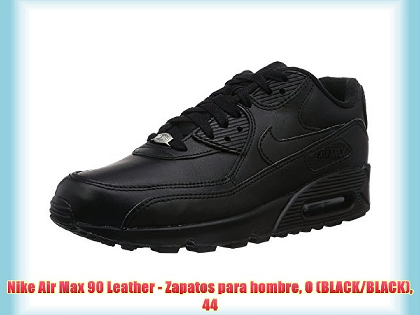 Nike Air Max 90 Leather - Zapatos para hombre 0 (BLACK/BLACK) 44