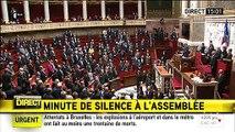 Attentats à Bruxelles: Les députés observent une minute de silence à l'Assemblée nationale en hommage aux victimes