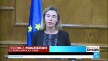 Federica Mogherini fights back tears talking about the Brussels attacks