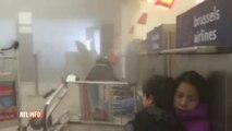 Attentats de Bruxelles - Belgique: Le CHAOS à l'intérieur du hall de l'aéroport de Zaventem