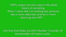 Self esteem affirmation and Self Esteem Help with Debs de Vries
