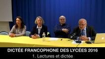 Dictée francophone des lycées 2016 : 1. Lectures et dictée, Jean-Pierre COLIGNON