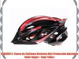 CARCHET® Casco de Ciclismo Bicicleta Bici Protección Ajustable Color Negro   Rojo Talla L