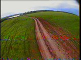 HobbyKing f550 with cheap 320 TVL camera and brushless gimbal flight in very windy day and crash