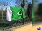 Asiya Andrabi hoists Pak flag in Srinagar on Pakistan Day