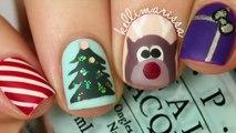 4 CHRISTMAS NAIL ART DESIGNS! (EASY) _ Festive Nail Art Ideas for Christmas - Creative Christmas Nail Designs - Best, Easy & Simple Christmas Nail Art Designs & Ideas