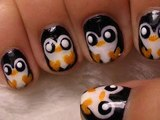 Easy Penguin Nail Art DIY Tutorial _Cute Penguin Nail Art- Tutorial: How to Paint Penguin Nails