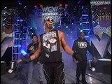Hulk Hogan, NWO, Lex Luger, Giant close WCW Monday Nitro 27.01.1997