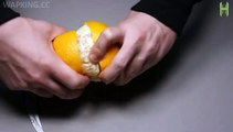 Make a Lamp From Orange In 1 Minute-Entertainment & Fun Vidoes