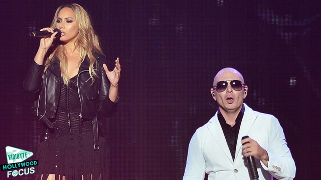 Leona Lewis and Pitbull's Surprise Performance at Vegas Concert