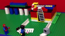 Spiderman Legos Stop Motion Spider-Car Pursuit Simpsons Legos Police Mini Figures DisneyCarToys