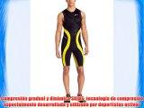 SKINS TRI400 Mono sin mangas de triatlón Hombre negro/amarillo L