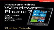 Download Microsoft XNA Framework Edition  Programming Windows Phone 7  Developer Reference