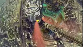 Crazy 4K video of Burj Khalifa Pinnacle BASE Jump