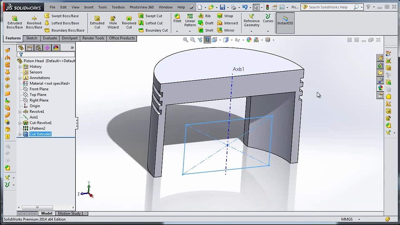 Best OF SolidWorks- car Piston Head
