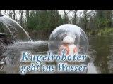 Sphero läuft auf dem Wasser, Kugelroboter geht ins Wasser,