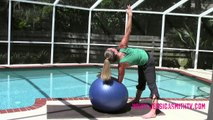 Stability Ball Abs & Core Workout -- On the Ball_ 20-Minute Core Stretching Routine