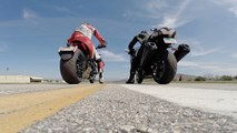 Kawasaki Ninja H2 vs Ninja ZX 14R drag test 2015 HD - Dailymotion Video