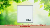 Download  Synthetic Aperture Radar Systems and Signal Processing Download Full Ebook