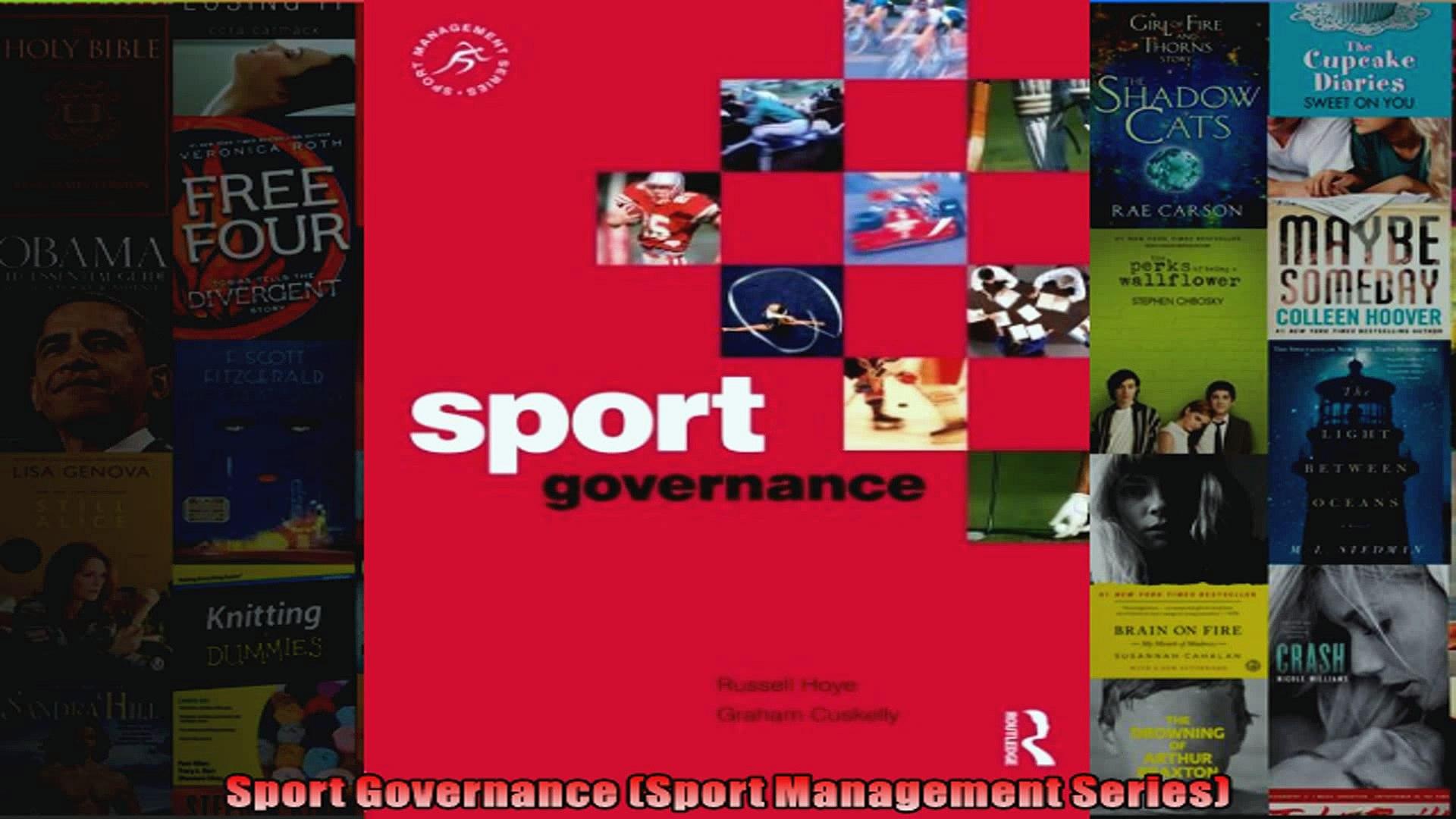 Sport Governance Sport Management Series
